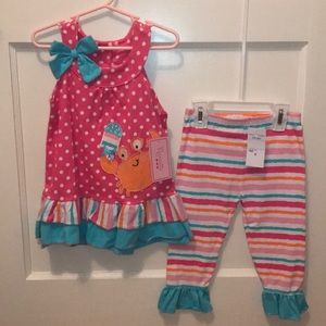 Nannette little Girls size 6 2 piece